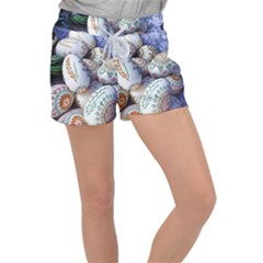 Model Color Traditional Women s Velour Lounge Shorts