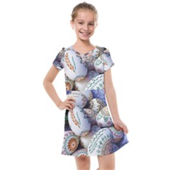 Model Color Traditional Kids  Cross Web Dress