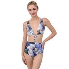 Model Color Traditional Tied Up Two Piece Swimsuit