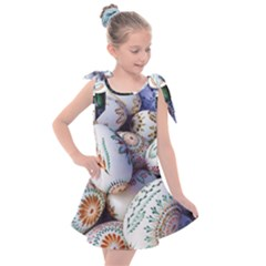 Model Color Traditional Kids  Tie Up Tunic Dress