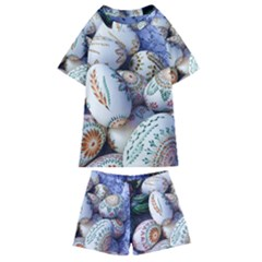 Model Color Traditional Kids  Swim Tee and Shorts Set