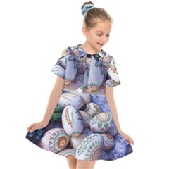Model Color Traditional Kids  Short Sleeve Shirt Dress