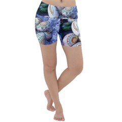 Model Color Traditional Lightweight Velour Yoga Shorts