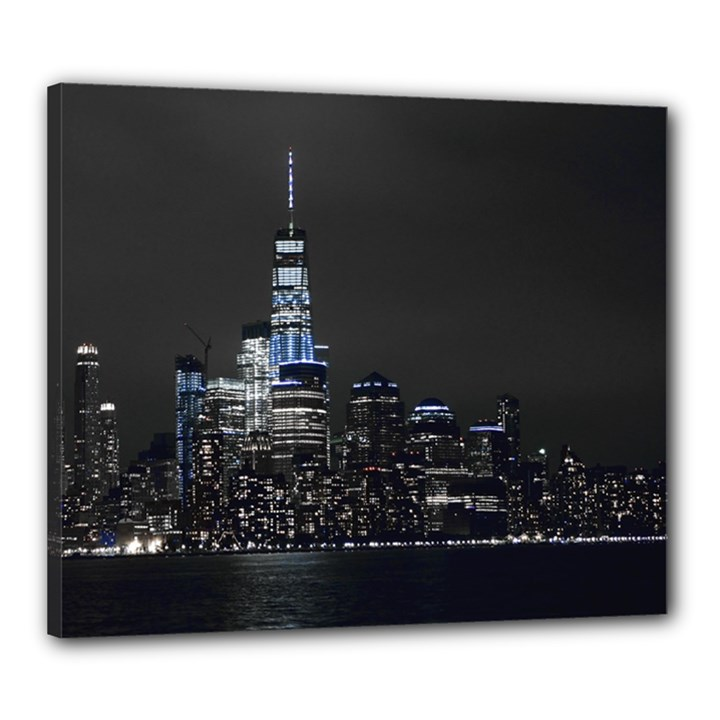 New York Skyline New York City Canvas 24  x 20  (Stretched)