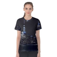 New York Skyline New York City Women s Cotton Tee