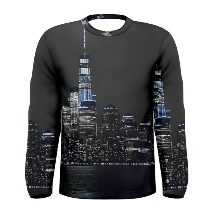 New York Skyline New York City Men s Long Sleeve Tee