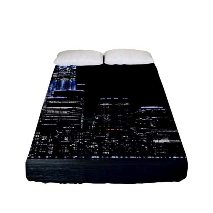 New York Skyline New York City Fitted Sheet (Full/ Double Size)