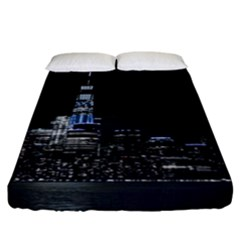 New York Skyline New York City Fitted Sheet (california King Size) by Nexatart