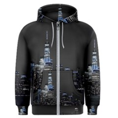 New York Skyline New York City Men s Zipper Hoodie