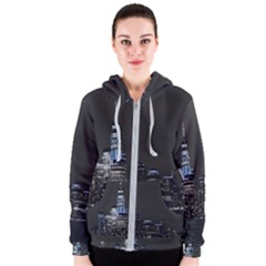 New York Skyline New York City Women s Zipper Hoodie