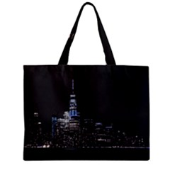 New York Skyline New York City Zipper Mini Tote Bag