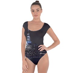 New York Skyline New York City Short Sleeve Leotard