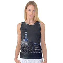 New York Skyline New York City Women s Basketball Tank Top