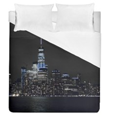 New York Skyline New York City Duvet Cover (queen Size) by Nexatart