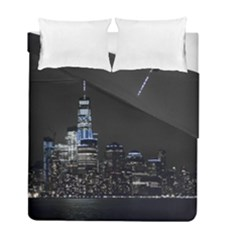 New York Skyline New York City Duvet Cover Double Side (full/ Double Size) by Nexatart