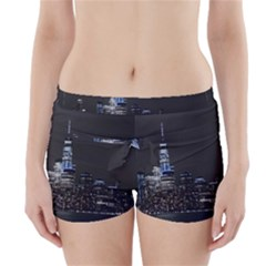 New York Skyline New York City Boyleg Bikini Wrap Bottoms