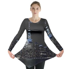 New York Skyline New York City Long Sleeve Tunic