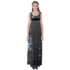 New York Skyline New York City Empire Waist Maxi Dress