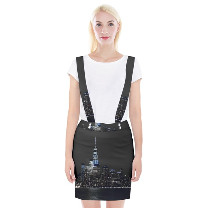 New York Skyline New York City Braces Suspender Skirt