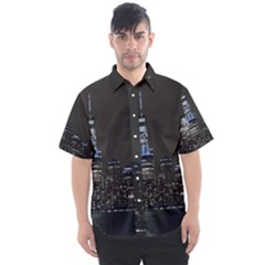 New York Skyline New York City Men s Short Sleeve Shirt