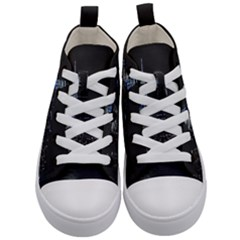 New York Skyline New York City Kid s Mid Top Canvas Sneakers