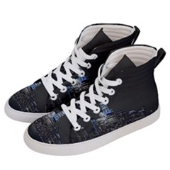 New York Skyline New York City Men s Hi Top Skate Sneakers by Nexatart