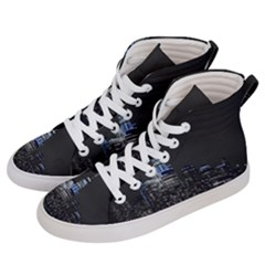 New York Skyline New York City Women s Hi Top Skate Sneakers by Nexatart