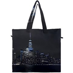 New York Skyline New York City Canvas Travel Bag