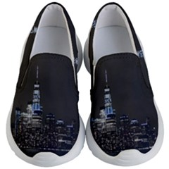 New York Skyline New York City Kid s Lightweight Slip Ons by Nexatart