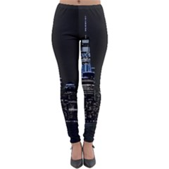 New York Skyline New York City Lightweight Velour Leggings