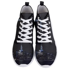 New York Skyline New York City Men s Lightweight High Top Sneakers