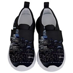 New York Skyline New York City Velcro Strap Shoes by Nexatart