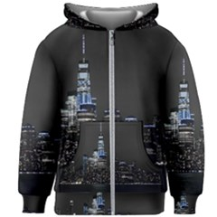 New York Skyline New York City Kids Zipper Hoodie Without Drawstring