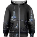 New York Skyline New York City Kids Zipper Hoodie Without Drawstring View1