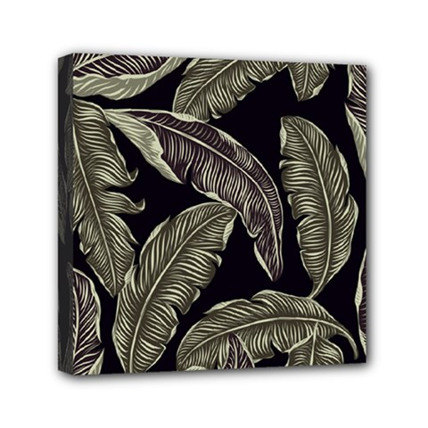 Jungle Leaves Tropical Pattern Mini Canvas 6  X 6  (stretched) by Nexatart