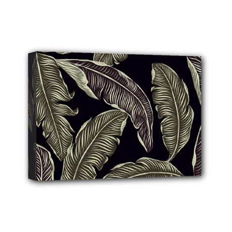Jungle Leaves Tropical Pattern Mini Canvas 7  X 5  (stretched)
