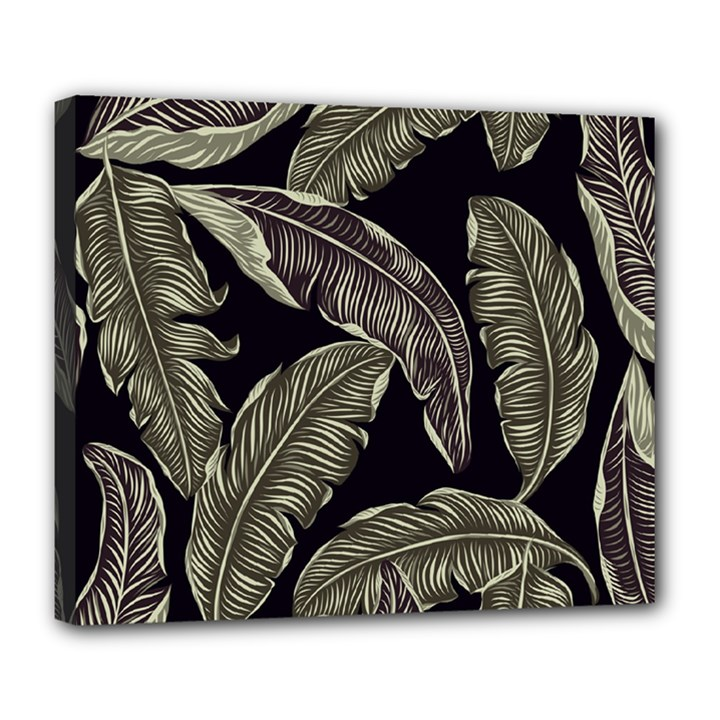 Jungle Leaves Tropical Pattern Deluxe Canvas 24  x 20  (Stretched)