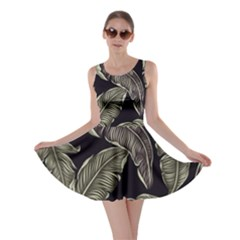 Jungle Leaves Tropical Pattern Skater Dress