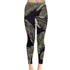 Jungle Leaves Tropical Pattern Leggings  by Nexatart