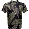 Jungle Leaves Tropical Pattern Men s Cotton Tee View1