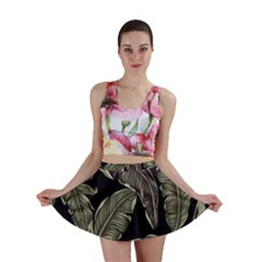 Jungle Leaves Tropical Pattern Mini Skirt