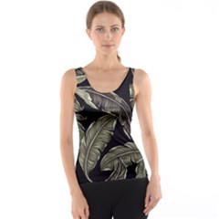 Jungle Leaves Tropical Pattern Tank Top