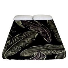 Jungle Leaves Tropical Pattern Fitted Sheet (queen Size) by Nexatart