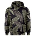 Jungle Leaves Tropical Pattern Men s Pullover Hoodie View1