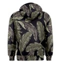 Jungle Leaves Tropical Pattern Men s Pullover Hoodie View2