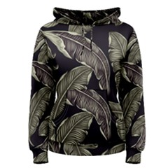 Jungle Leaves Tropical Pattern Women s Pullover Hoodie