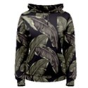 Jungle Leaves Tropical Pattern Women s Pullover Hoodie View1