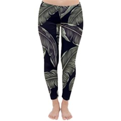 Jungle Leaves Tropical Pattern Classic Winter Leggings