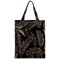 Jungle Leaves Tropical Pattern Zipper Classic Tote Bag