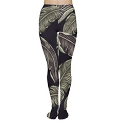 Jungle Leaves Tropical Pattern Tights